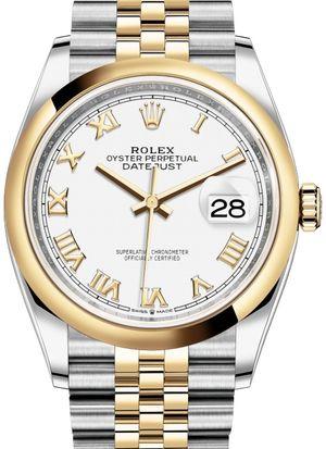 126203 White Roman numeral Jubilee Rolex Datejust 36