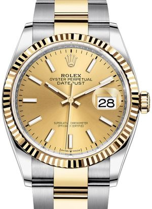 126233 Champagne-colour Rolex Datejust 36