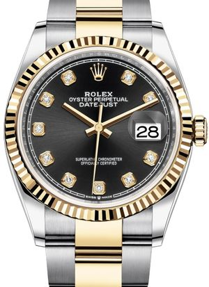 Rolex Datejust 36 126233 Black set with diamonds