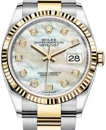 Часы Rolex Datejust 36 Yellow Rolesor Fluted Bezel Oyster Bracelet