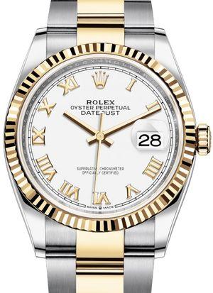 126233 White Roman numeral Rolex Datejust 36