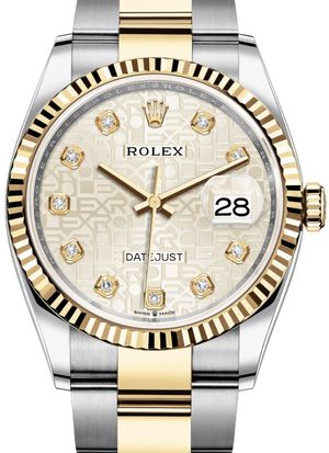 126233 Silver Jubilee design set with diamonds Rolex Datejust 36