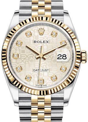 Rolex Datejust 36 126233 Silver Jubilee design diamonds Jubilee
