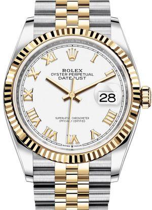 126233 White Roman numeral Jubilee Rolex Datejust 36
