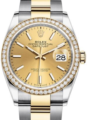126283RBR Champagne-colour Rolex Datejust 36