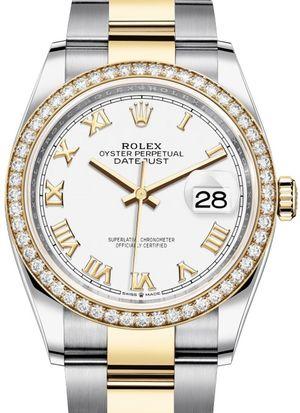 126283RBR White Roman numeral Rolex Datejust 36