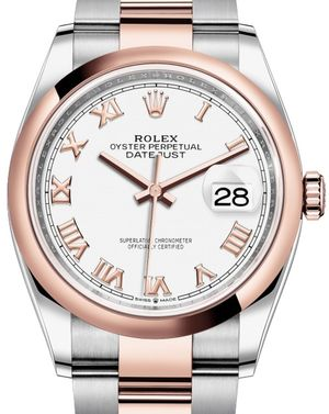 126201 White Roman numerals Rolex Datejust 36
