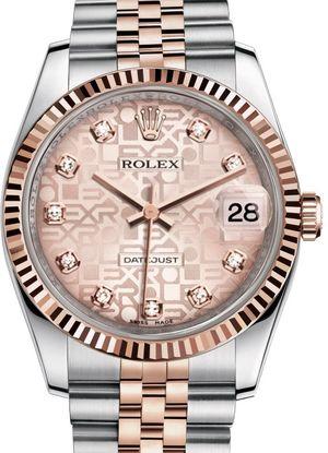 Rolex Datejust 36 116231 pink Jubilee diamond dial Jubilee