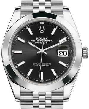 126300 Black Rolex Datejust 41