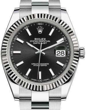 126334 Black index Rolex Datejust 41
