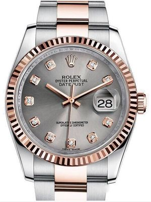116231 steel diamond dial Oyster Rolex Datejust 36