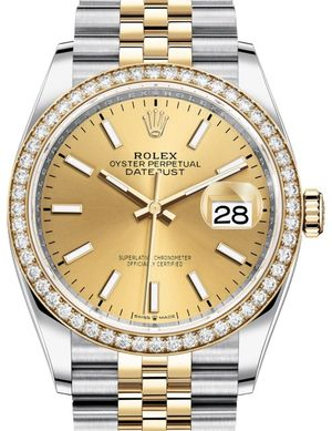 Rolex Datejust 36 126283RBR Champagne-colour Jubilee