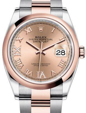 Rolex Datejust 36 126201 Rose set with diamonds