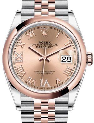Rolex Datejust 36 126201 Rose set with diamonds Jubilee