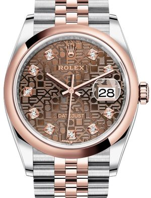 Rolex Datejust 36 126201 Chocolate Jubilee design set with diamonds