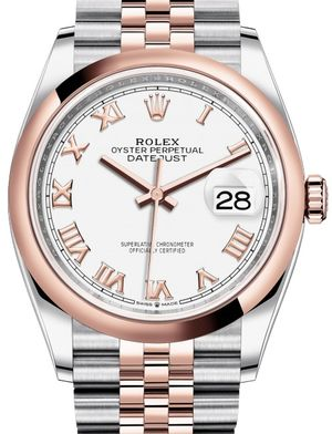 126201 White Roman numerals Jubilee Rolex Datejust 36