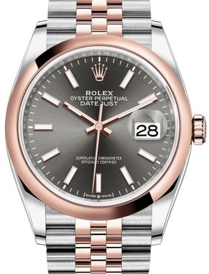 126201 Dark rhodium Chromalight Jubilee Rolex Datejust 36