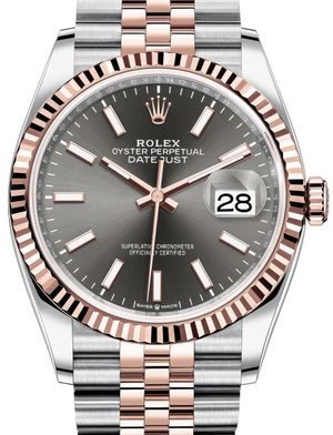 126231 Dark rhodium Chromalight Jubilee Rolex Datejust 36