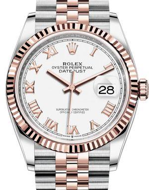Rolex Datejust 36 126231 White Roman numerals Jubilee