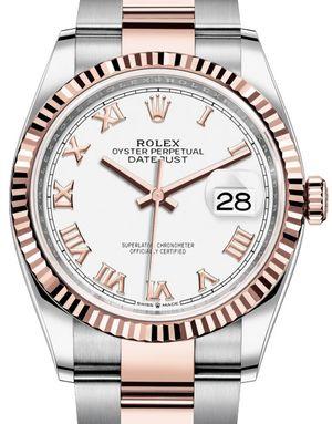 126231 White Roman numerals Oyster Rolex Datejust 36