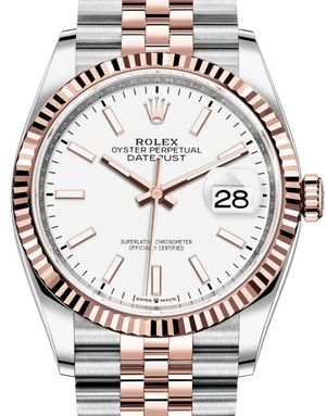 126231 White Chromalight Jubilee Rolex Datejust 36
