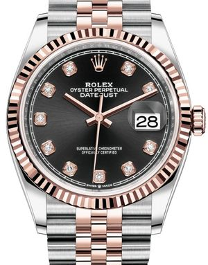 Rolex Datejust 36 126231 Black set with diamonds Jubilee