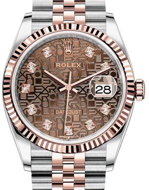 Rolex Datejust 36 126231 Chocolate Jubilee design set with diamonds