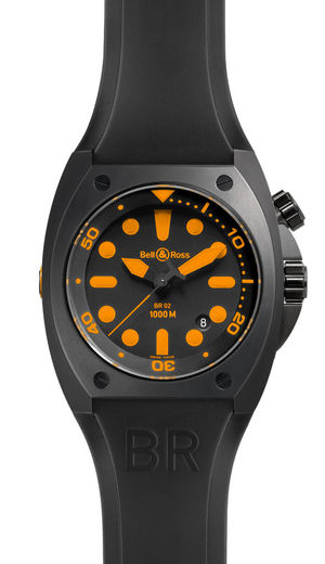 BR 02-92 Carbon Orange Bell & Ross Collection Marine Divers
