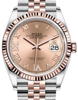 Rolex Datejust 36 126231 Rose set with diamonds