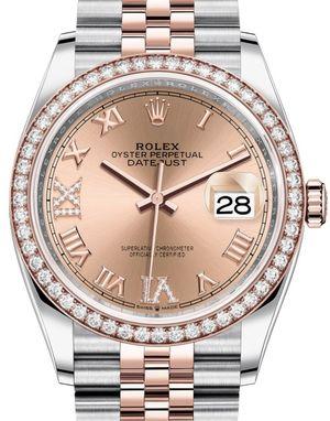 Rolex Datejust 36 126281RBR Rose set with diamonds