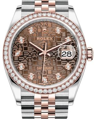 126281RBR Chocolate Jubilee design diamonds Rolex Datejust 36