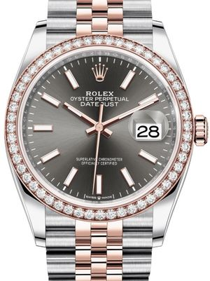 Rolex Datejust 36 126281RBR Dark rhodium Chromalight Jubilee