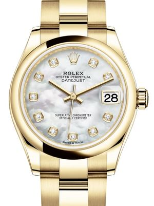 Rolex Datejust 31 278248 White mother-of-pearl set with diamonds