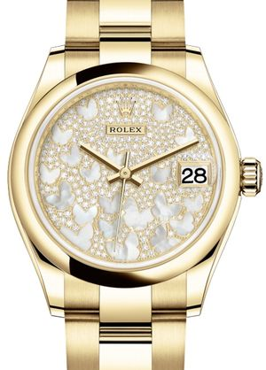 Rolex Datejust 31 278248 Paved mother-of-pearl butterfly