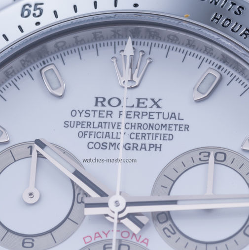 116520 white dial USED Rolex часы Steel