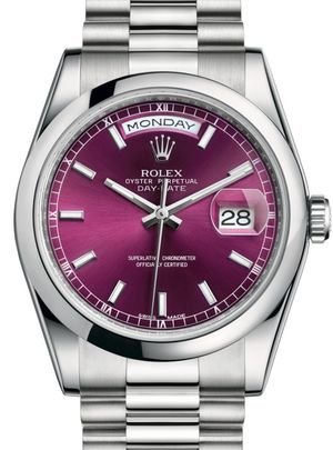 118206 Cherry index dial Rolex Day-Date 36