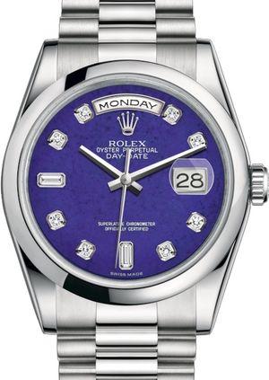 Rolex Day-Date 36 118206 Lapis Lazuli set with diamonds