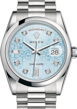 Rolex Day-Date 36 118206 Ice blue Jubilee design set with diamonds