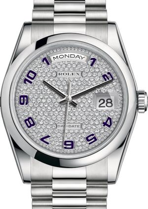 118206 Diamond-paved Rolex Day-Date 36