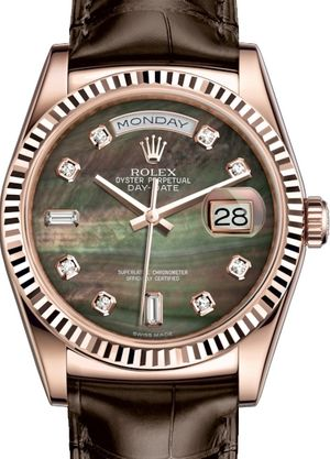 118135 Black mother-of-pearl set with diamonds Rolex Day-Date 36