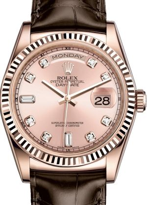 Rolex Day-Date 36 118135 Pink set with diamonds