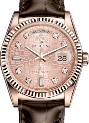 118135 Pink Jubilee design set with diamonds Rolex Day-Date 36
