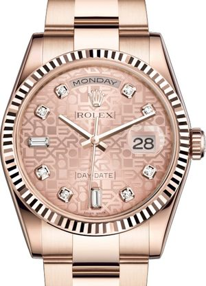 118235 Pink Jubilee design set with diamonds Rolex Day-Date 36