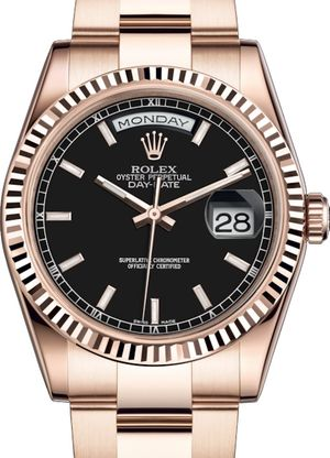 118235 Black long-lasting blue luminescence Rolex Day-Date 36