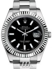 116334 black dial index Rolex часы II - Steel and Gold White Gold - Fluted Bezel