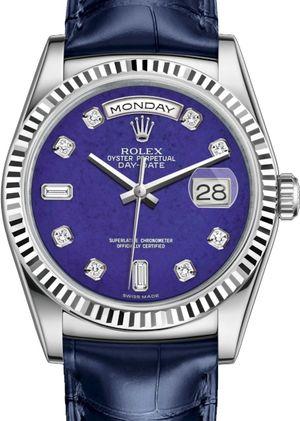 Rolex Day-Date 36 118139 Lapis Lazuli set with diamonds