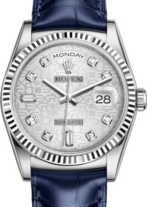 118139 Silver Jubilee design set with diamonds Rolex Day-Date 36