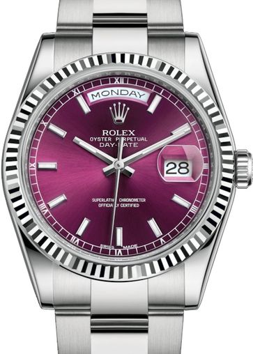 118239 Cherry long-lasting blue luminescence Rolex Day-Date 36