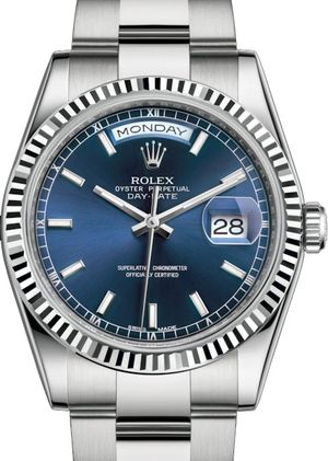 118239 Blue long-lasting blue luminescence Rolex Day-Date 36
