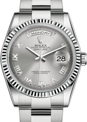 Rolex Day-Date 36 118239 Rhodium Roman numerals